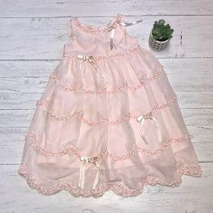 Biscotti Collezioni pale pink dress.